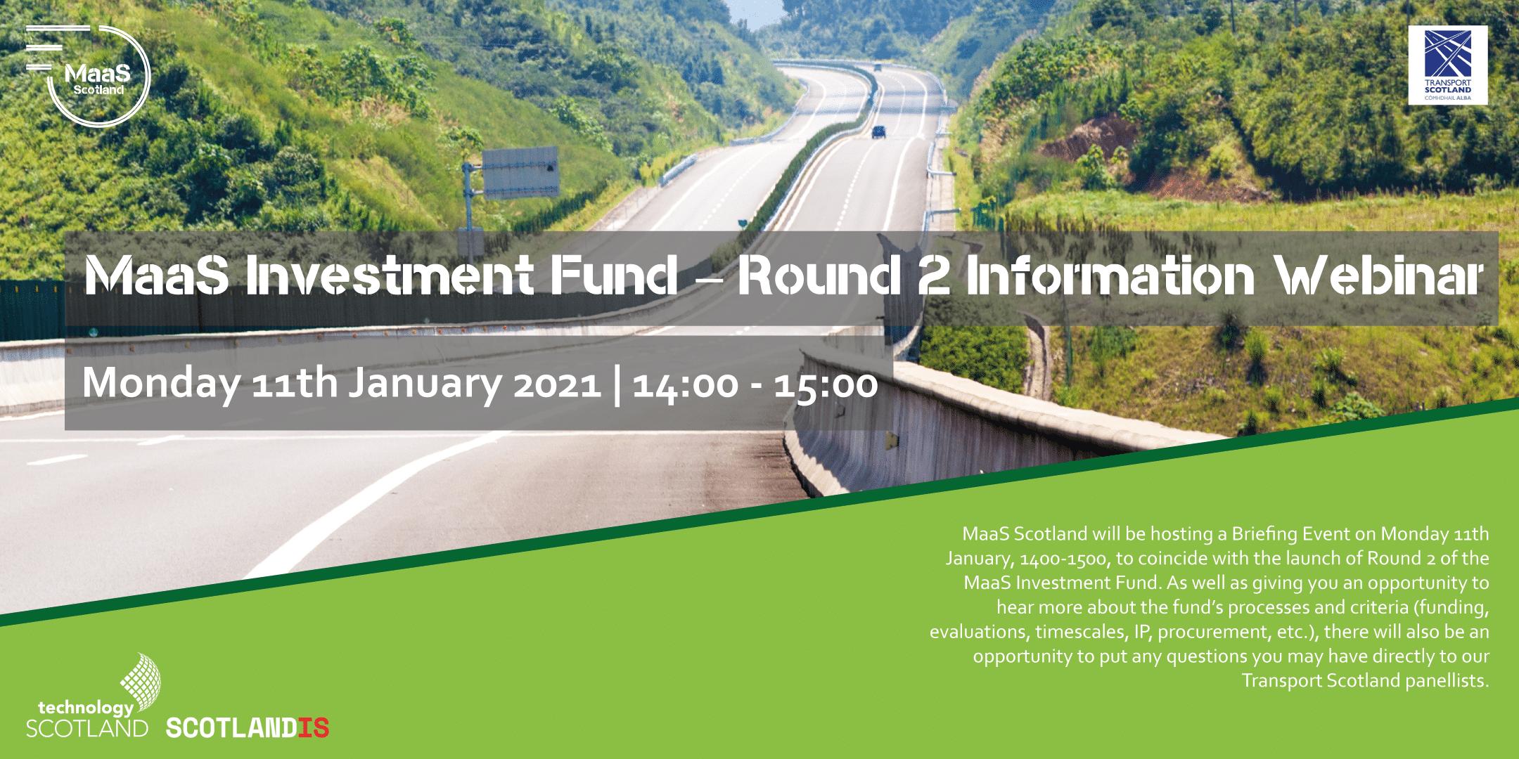 MaaS Investment Fund – Round 2 Information Webinar